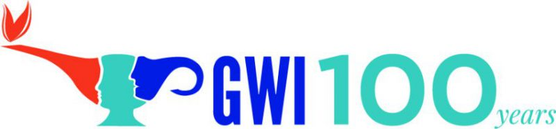 The GWI Centenary Logo Designed By GWI Logo Contest Winner Maria Ronna Luna Pastorizo-Sekiguchi, Vice President Membership, Graduate Women (Fiji)